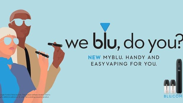 An example of Blu advertising