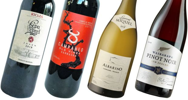 Cepa Lebrel Rioja, Campaneo Old Vines Garnacha, Laurent Miquel Albarino and Exquisite Collection Wairarapa Pinot Noir.