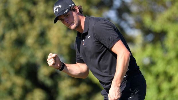 Thomas Pieters has moved up the world rankings despite not playing at the Travelers Championship . Photograph: Ross Kinnaird/Getty Images