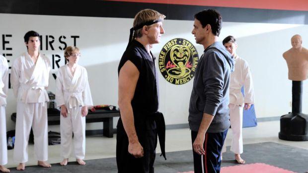 William Zabka and Ralph Maccio in Cobra Kai