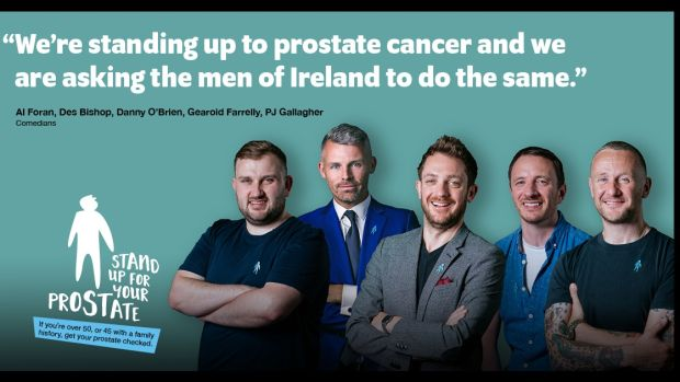 The Stand Up For Your Prostate campaign is fronted by Des Bishop and a host of Ireland's best comedic talent.