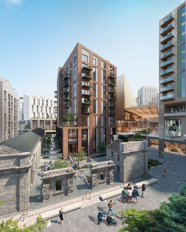 The planned Augustine Hill development just off Eyre Square in Galway city. Image: Edward Group