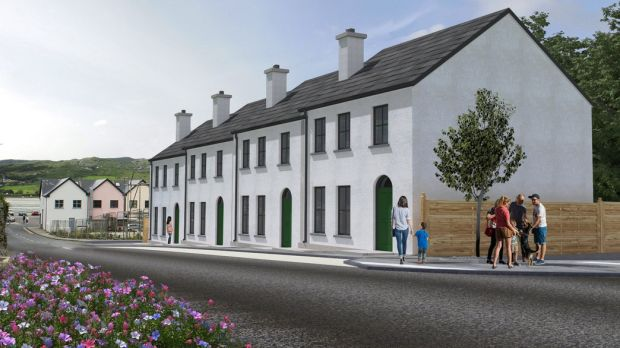 Prices for the new three-bedroom houses at Pound Street in Dunfanaghy start at €179,000.