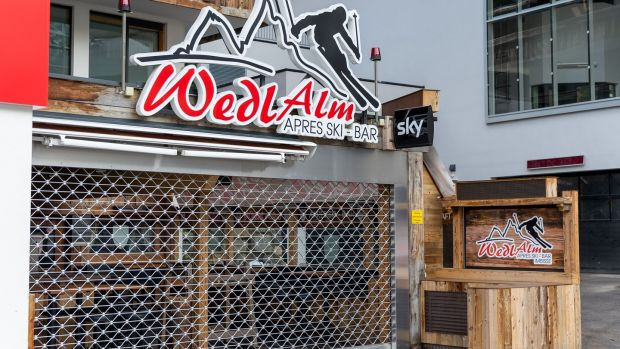 A closed apres-ski bar on March 13th in Ischgl. Photograph: AFP via Getty Images