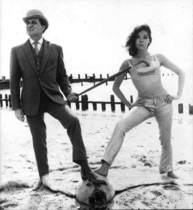 Diana Rigg, as Emma Peel, and Patrick Macnee, as John Steed, in the The Avengers. Photograph: PA