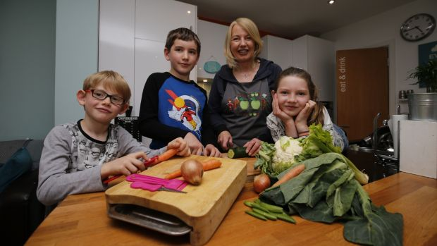 Deirdre Doyle with her children (from left) and Charlie (8), Luke (12) and Maggie (10). Photograph: Nick Bradshaw/ The Irish Times