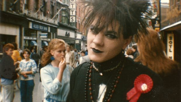Conor Ferguson in his teenage Goth phase, on Grafton Street in Dublin, when Keelin used to follow him about