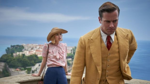 Lily James in Armie Hammer in Rebecca