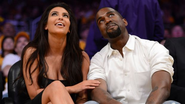 Kim Kardashian and Kanye West at a basketball game in 2012. File photograph: Harry How/Getty Images