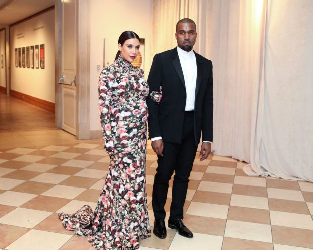 Kim Kardashian West and Kanye West at the Costume Institute gala at the Metropolitan Museum of Art in New Yorkin 2013. File photograph: Erin Baiano/The New York Times