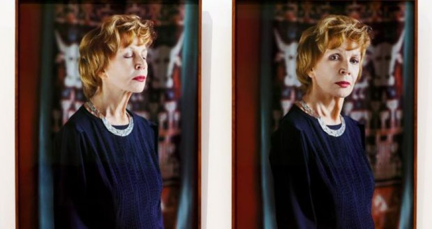 The portrait of Edna O'Brien by photographer Mandy O'Neill which was unveiled at the National Gallery of Ireland on the writer's 90th birthday. Photograph: Maxwells