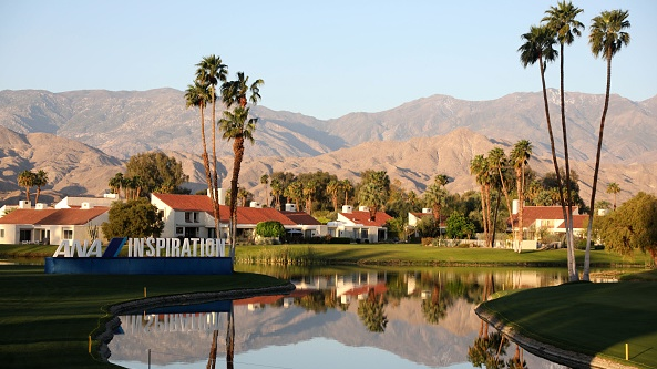 Stephanie Meadow shot an opening round of one-under-par 71 at the ANA Inspiration at the Dinah Shore course in Rancho Mirage, California. Photograph: Getty Images