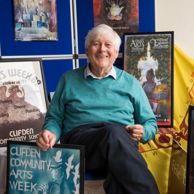 Brendan Flynn in the Clifden Arts Festival office. Photograph: Aoife Herriott