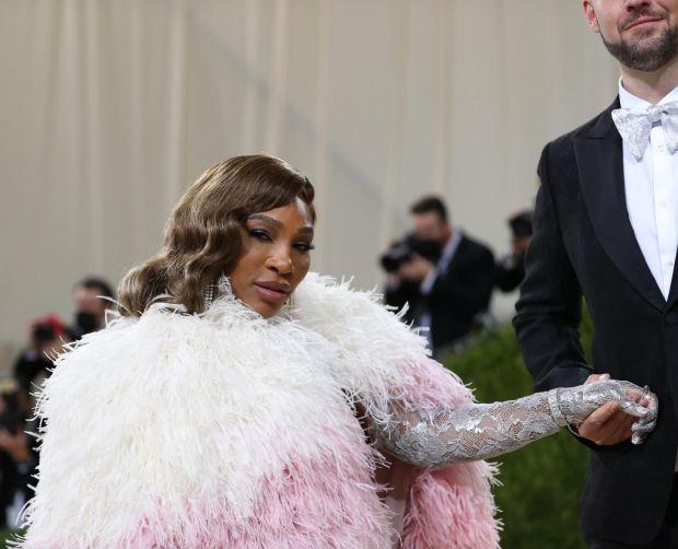 Serena Williams at the Metropolitan Museum of Art's Costume Institute benefit gala in New York, Sept. 13, 2021. (Calla Kessler/The New York Times)