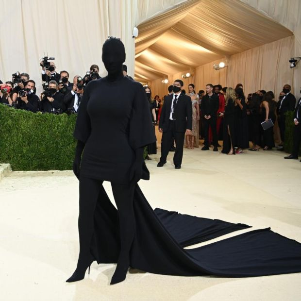 Kim Kardashian at the Metropolitan Museum of Art's Costume Institute benefit gala in New York, Sept. 13, 2021. (Nina Westervelt/The New York Times)