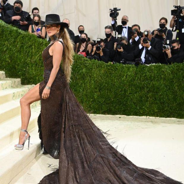 Jennifer Lopez at the Metropolitan Museum of Art's Costume Institute benefit gala in New York, Sept. 13, 2021. (Nina Westervelt/The New York Times)