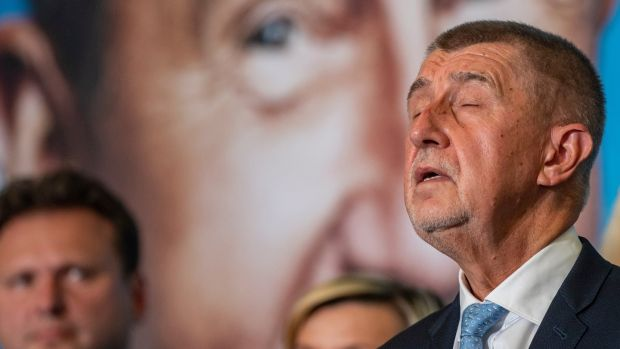 Voters have handed a defeat to Czech prime minister Andrej Babis's ANO party, giving their backing to centre-right opposition group Together in a surprise result. Photograph: Martin Divisek/EPA
