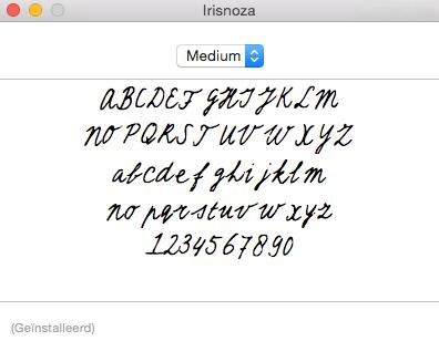 Iris Zaagman - DIY lettertype