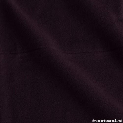 aubergine pinzon 190 gram heavyweight velvet flannel pillowcases standard sheets bedding