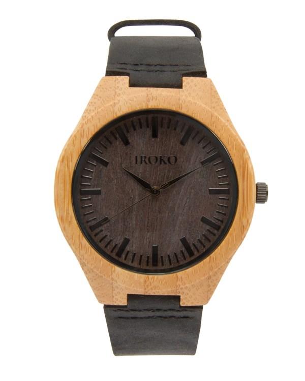 reloj de madera hombre Poniente Iroko