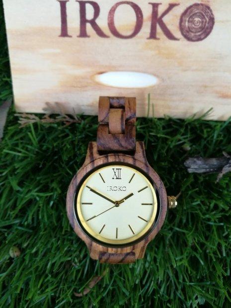 reloj de madera pulsera brisa