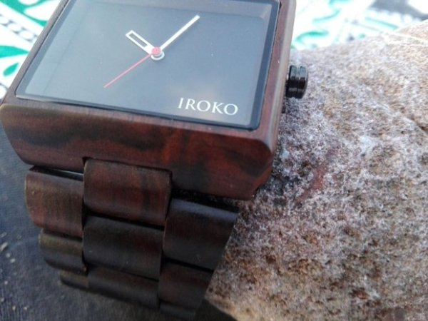 reloj de madera pulsera Siroko