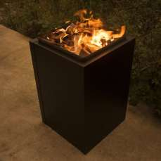 Ironfire long lasting, strong, black metal industrial style firepit