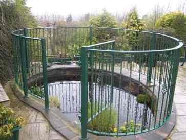garden pond railings