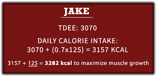 Lean-bulking caloric surplus example