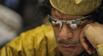 Gaddafi Forgets Correct Spelling of Own Name
