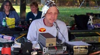 Man in Tinfoil Hat Sounding More Normal Every Day