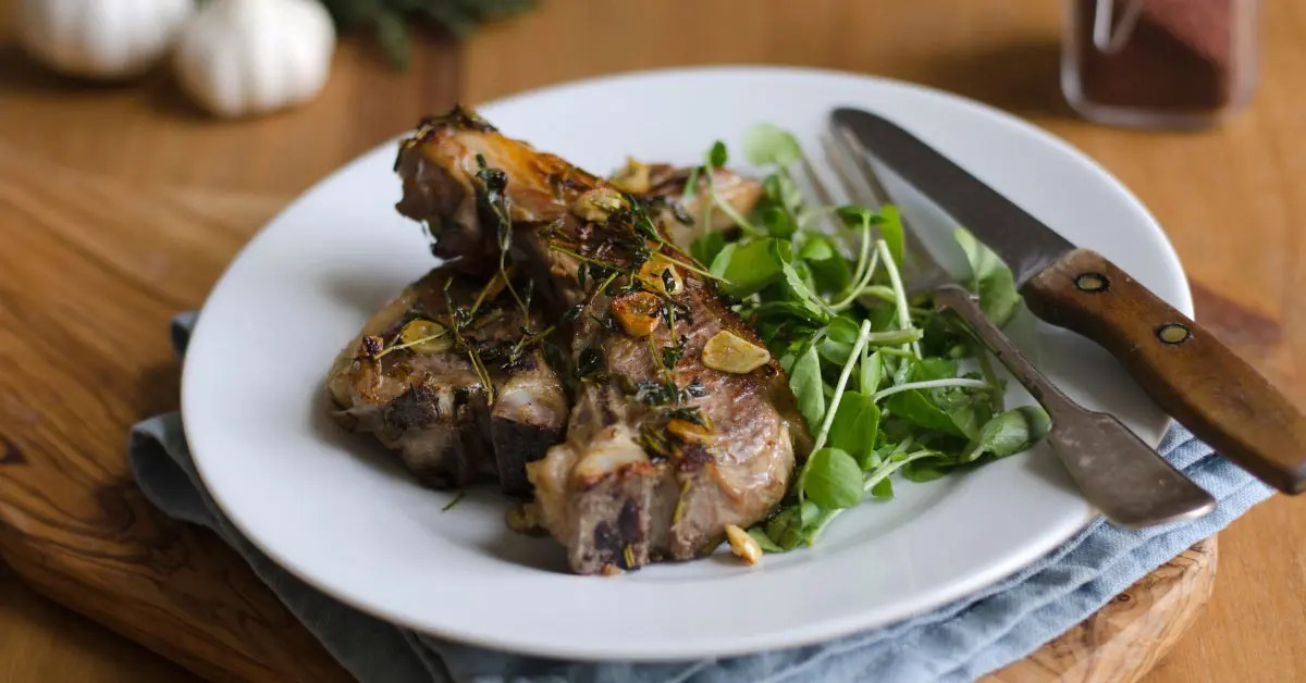 Lamb Chops with Fresh Herbs
