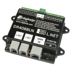 Digikeijs DR4088LN-GND 16 Channel Occupancy Feedback Detector For 3 Rail Marklin
