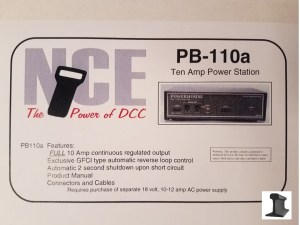 NCE PB-110a 10 Amp Power Station Booster ~ Reverse Loop ~ Short Circuit