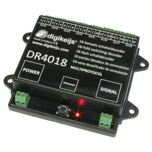 Digikeijs DR4018 16-Channel Switch Decoder ~ Works With All DCC Brands!
