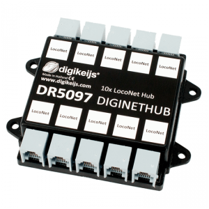 Digikeijs DR5097 DigiNetHub – 10 Way LocoNet Splitter Works With Digitrax