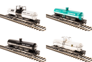 Broadway Limited 6126 HO 6000 Gallon Tank Car Variety Set A ~ 4 Pack