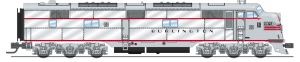 Broadway Limited 3598 N Scale EMD E7 A-Unit CB&Q #9917A P3 Sound/DC/DCC
