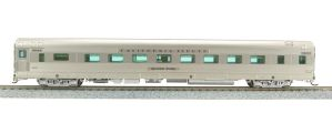Broadway Limited 521 HO Scale Zephyr D&RGW 6 Bedroom #1135 Silver Gull
