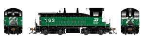 Rapido HO SW1200 Burlington Northern #163 Flexicoil DC 27004