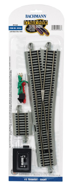 Bachmann E-Z Track #5 Turnout – Right – HO Scale 44566