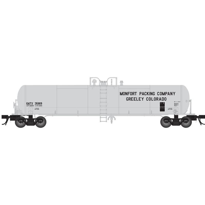 Monfort Packing Atlas 50 000 793 GATX 20,700 Gallon Tank Tanker Car N Scale