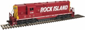 Atlas HO Rock Island RI GP-7 Gold #1208 Factory ESU LokSound DC/DCC 10002046 New