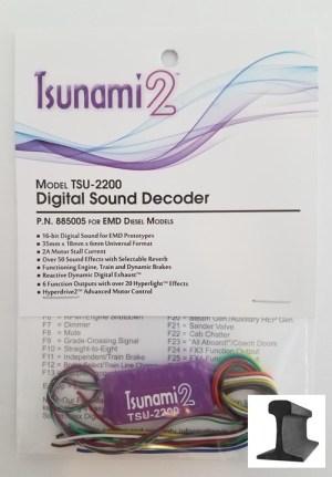 Soundtraxx Tsunami 2 ~ TSU-2200 EMD Diesel Sound Decoder ~ 885005