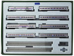 Kato N Amtrak Southwest Limited 8-Car Set With Display Unitrack 106081