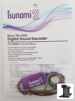 Soundtraxx Tsunami 2 ~ TSU-2200 Electric Engine Sounds ~ 886002