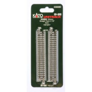 Kato N UniTrack 124mm 4 7/8″ Straight Track S124 (4 pcs) 20-020