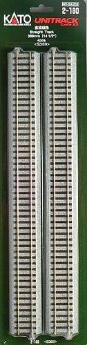 Kato HO UniTrack 369mm 14 1/2 Inch Straight Track 4 pcs 2-180
