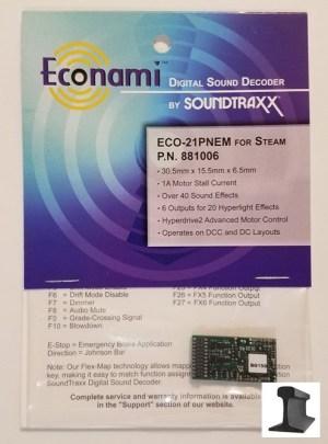 Soundtraxx Econami ~ ECO-21 Pin NEM Steam Sound Decoder ~ 881006
