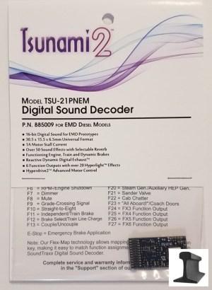 Soundtraxx Tsunami 2 ~ TSU-21 Pin NEM EMD Diesel Sound Decoder ~ 885009